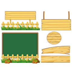 different designs of wooden board vector image