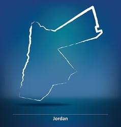 Doodle Map of Jordan vector