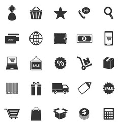 E commerce icons on white background vector