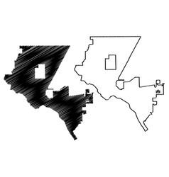 El paso city map vector
