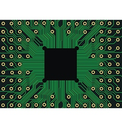electronic circuit board vector image vector image