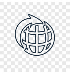 energy globe concept linear icon isolated on vector image