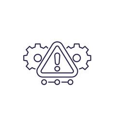 Error alert warning line icon vector