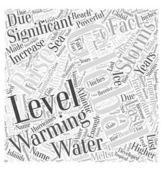 Global Warming and the Significance of Rising vector