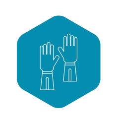 Gloves icon outline style vector