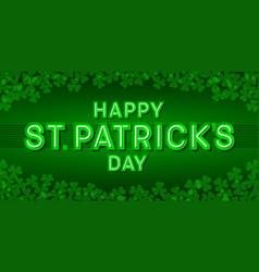 Happy st patricks day greeting card poster or vector