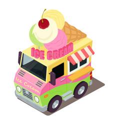 ice cream machine icon isometric style vector image