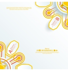 Info-graphic orange design template on the grey vector image vector image