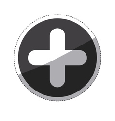 Isolated cross shape design vector