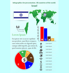 israel infographics for presentation all vector image