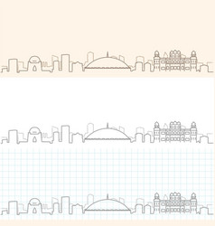 karachi hand drawn skyline vector image