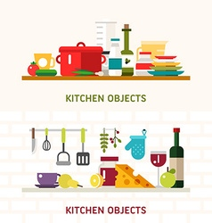 Kitchen Appliances and Objects Cookware Food vector