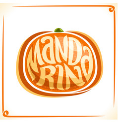 Logo for fresh mandarin vector