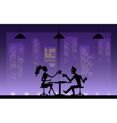 Love couples at night vector image