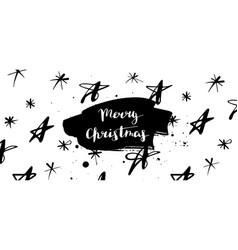 merry christmas stars banner vector image