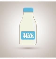 milk bottle design vector image