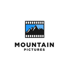 mountain films logo design inspiration vector image