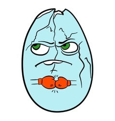 Nutritious egg ready for battle vector image vector image
