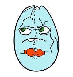 Nutritious egg ready for battle vector image