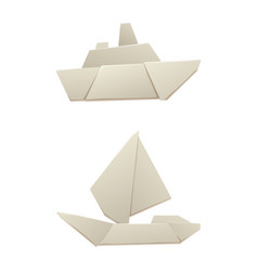 origami logistic paper boat transport concept vector image