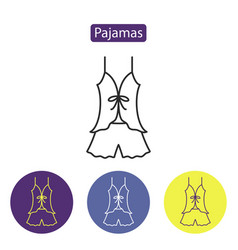 Pajamas line icon vector