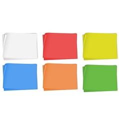 Paper design in six colors vector