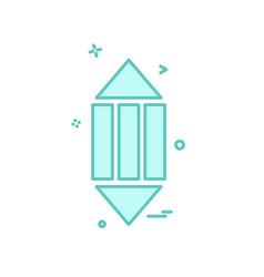 pencil icon design vector image