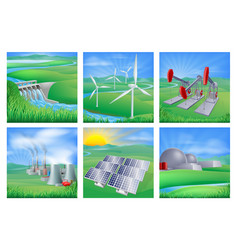 Power and energy sources vector