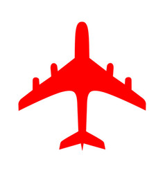 Red plane over white background vector