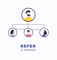 refer a friend - customer referral business vector image