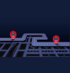Road trip taxi pave route location vector