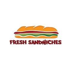 sandwich design template vector image