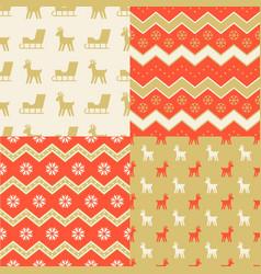 seamless pattern wallpaper christmas sleigh vector image