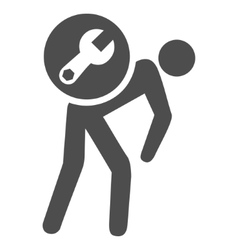 Service Courier Flat Icon vector