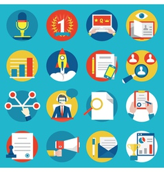 Set of management human resources vector