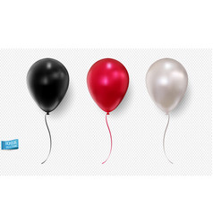 set realistic balloons isolated on light vector image