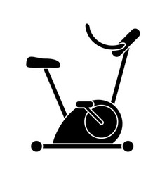 Silhouette bicycle static exercise training vector