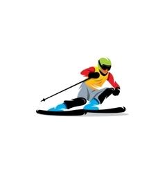 Slalom sign athlete on downhill vector