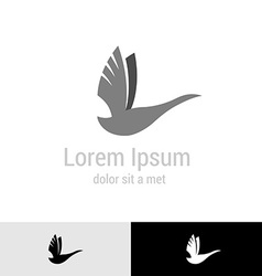 Swan silhouette logo template vector image