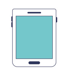 tablet device icon in blue color sections vector image