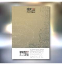 Technical retro background Brochure flyer or vector