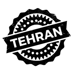Tehran stamp rubber grunge vector