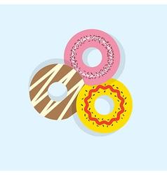 Three Donuts vector image