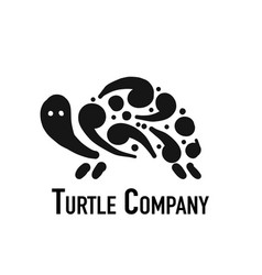 turtle logo black silhouette for your design vector image