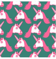 unicorn seamless pattern head of fantastic animal vector image