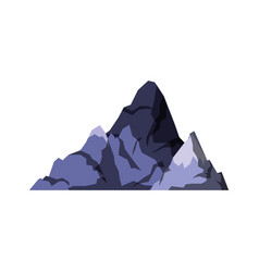 white background with dark blue silhouette of hill vector image