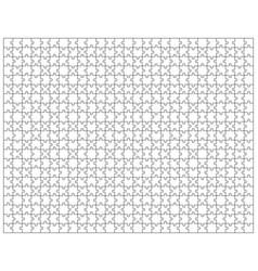 White puzzle separate pieces vector
