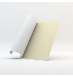 Blank page template for design layout 3d vector