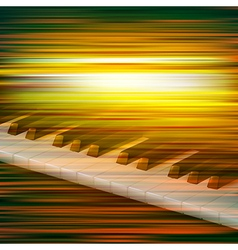 abstract green blur music background with piano vector image vector image
