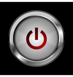 Abstract metal button design vector image